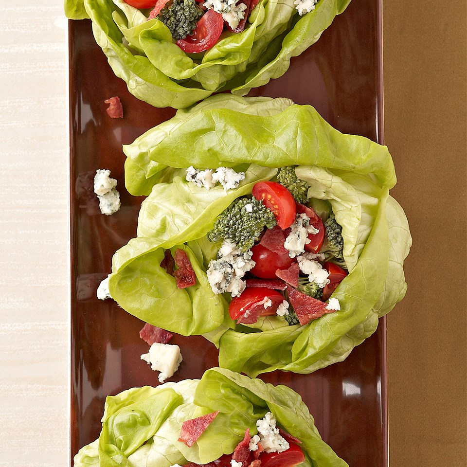 Stuffed Bibb Lettuce with Basil-Buttermilk Dressing