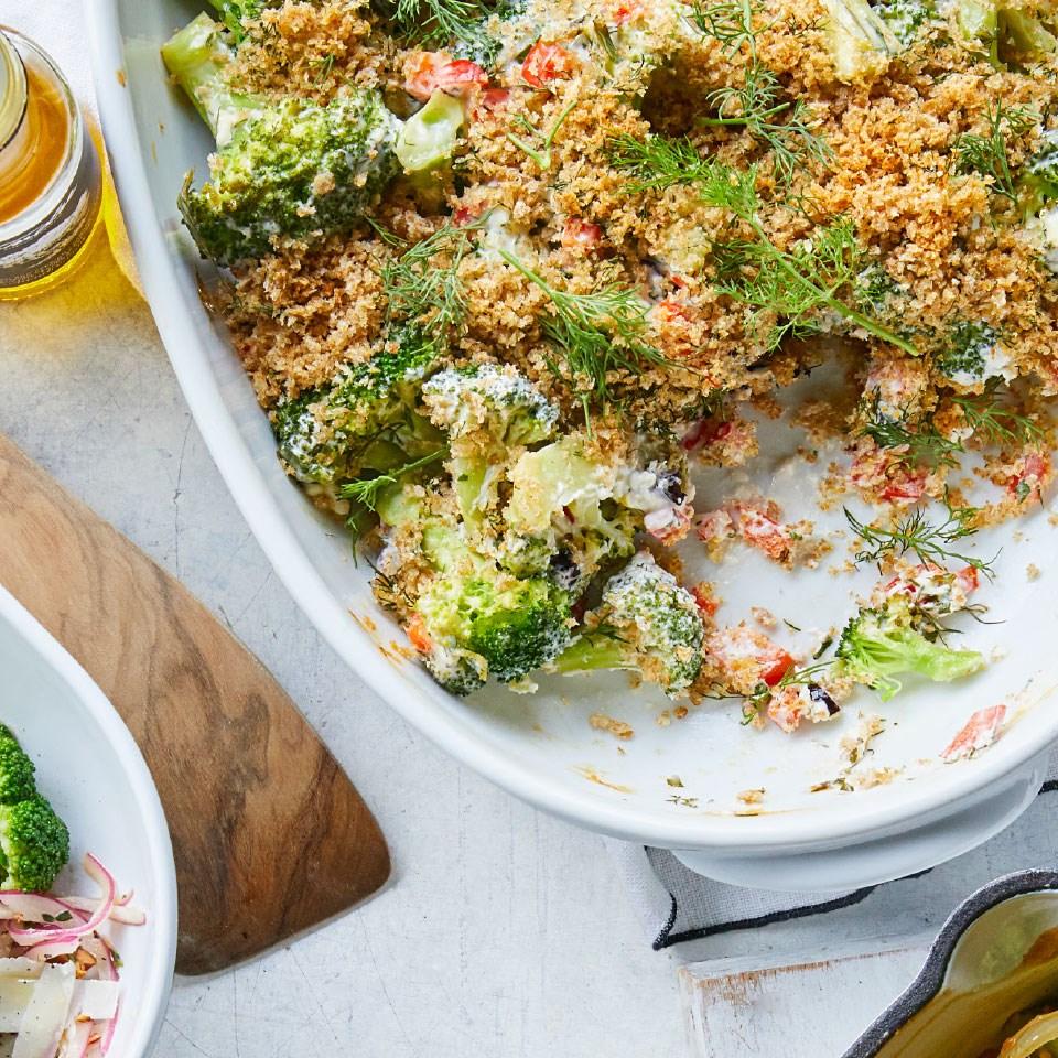 Greek Broccoli Gratin