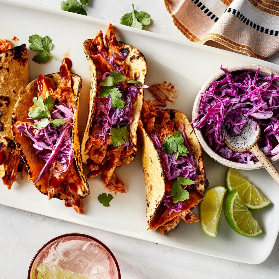 tacos with cabbage slaw