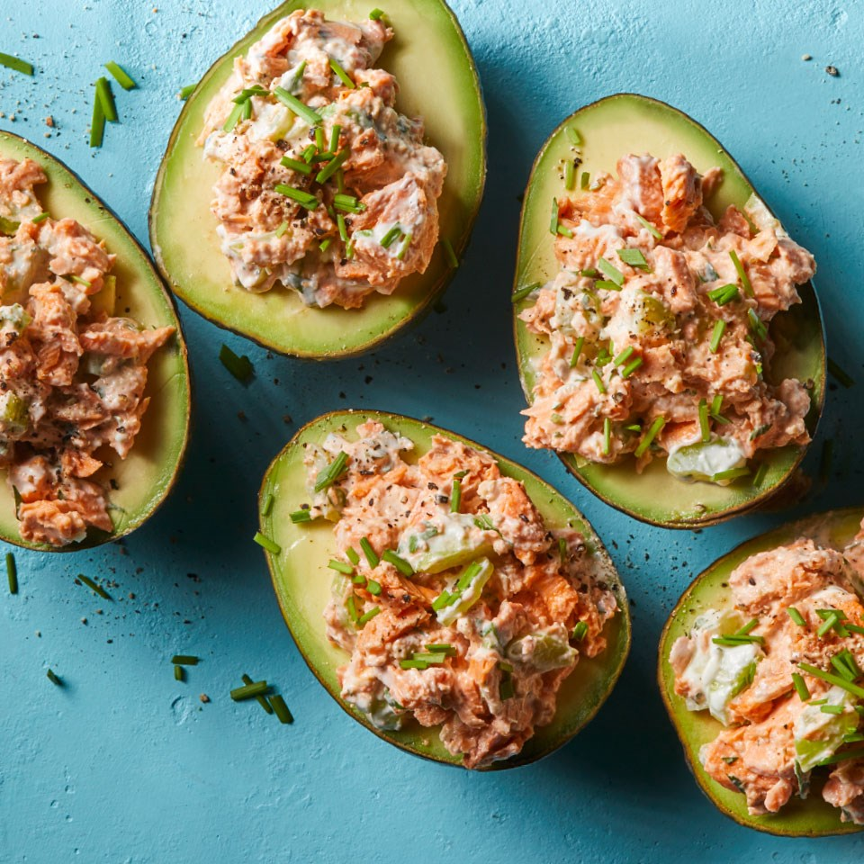 Salmon-Stuffed Avocados Recipe