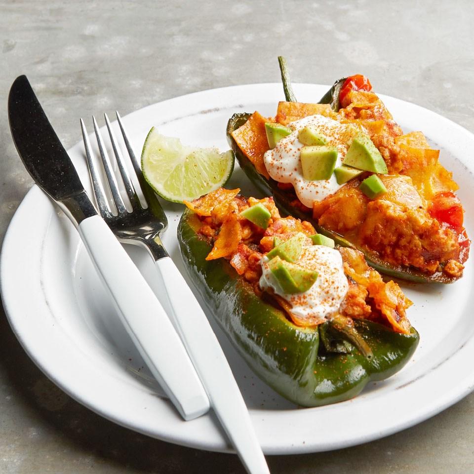 Turkey Enchilada Poblano Peppers