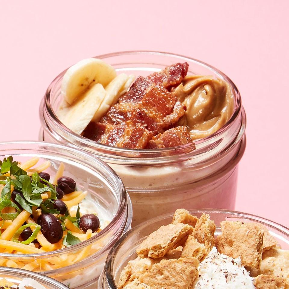 Peanut Butter, Banana & Bacon Overnight Oats