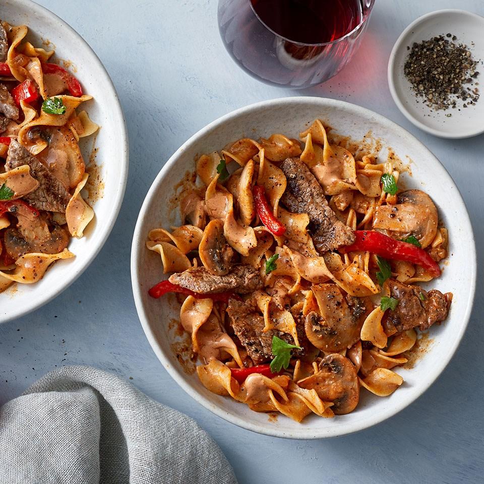 Mushroom-Beef Stroganoff