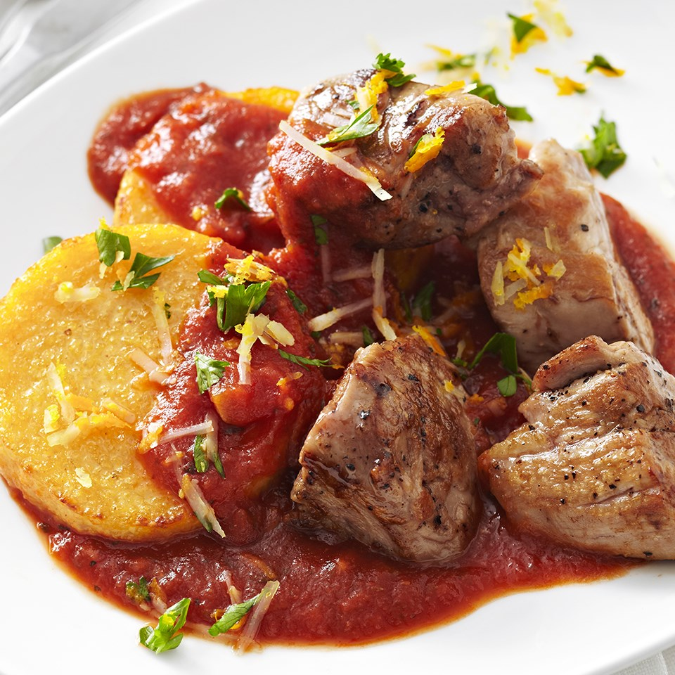 Pork Tenderloin with Polenta