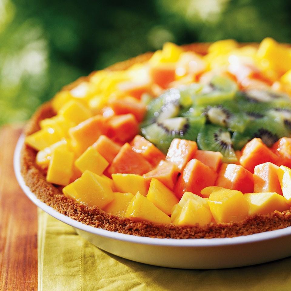 Glazed Tropical Fruit Pie