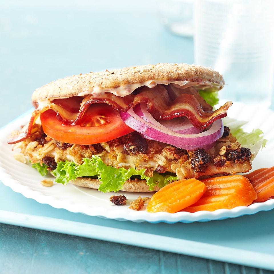 Southwestern Cherry-Oat Chicken Sandwich