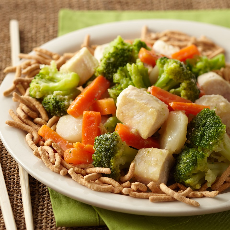 Swordfish & Mixed Vegetable Stir-Fry