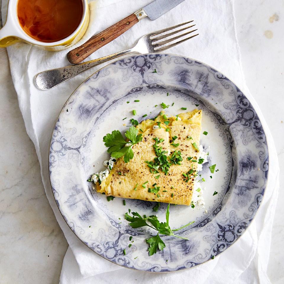 Goat Cheese & Fresh Herb Omelet