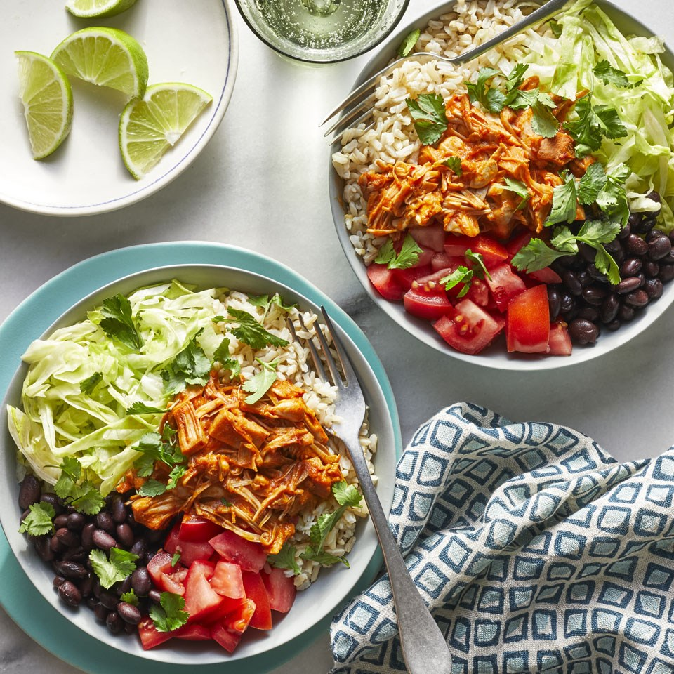 Jackfruit Barbacoa Burrito Bowls
