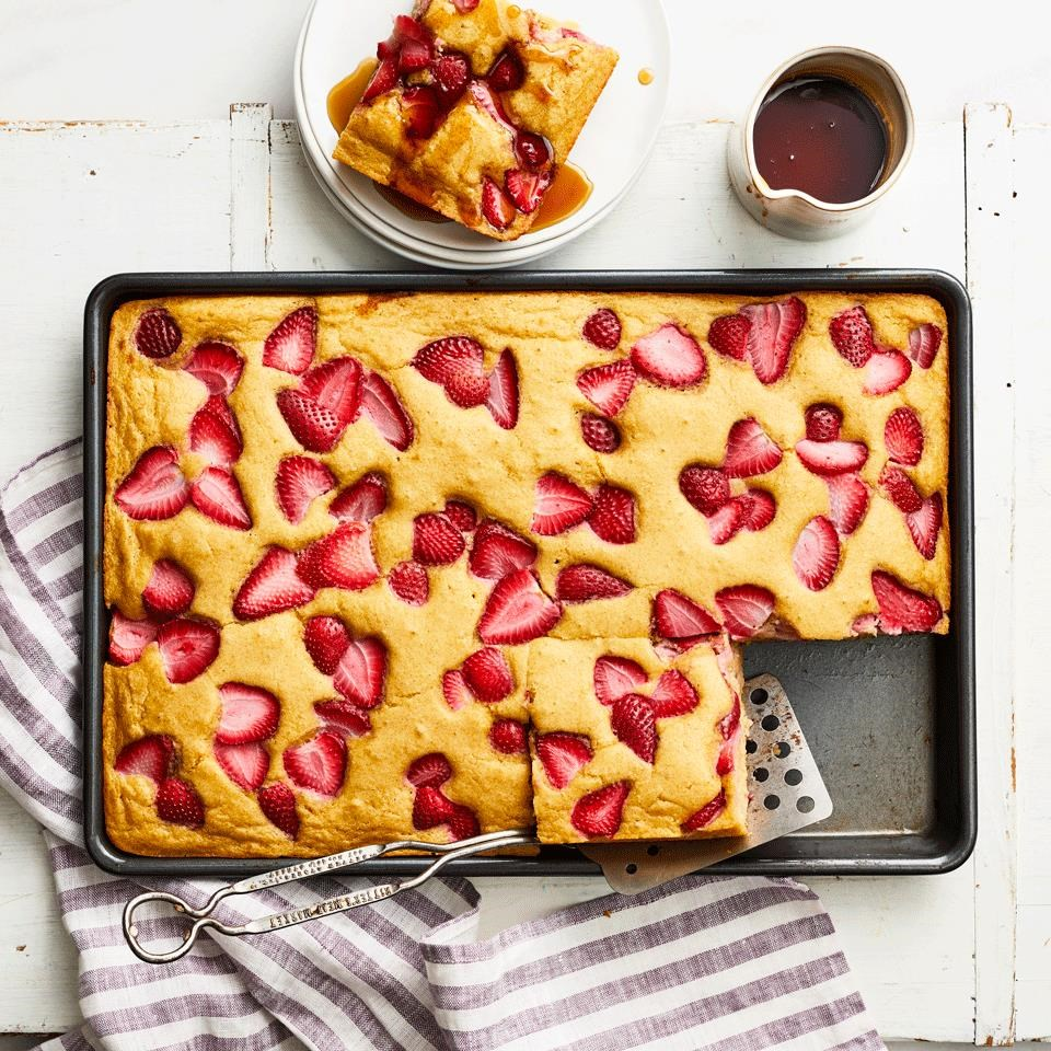 Strawberry Sheet-Pan Pancakes