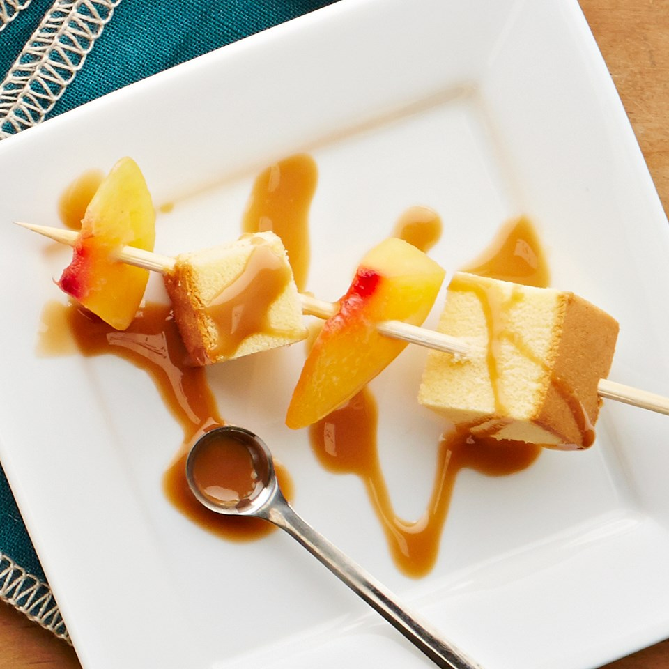 Peach & Pound Cake Skewer