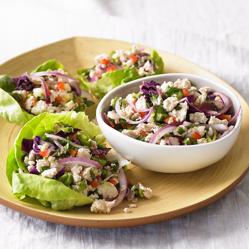 Spicy Thai Chicken Lettuce Cups