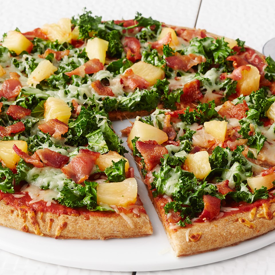Pineapple, Bacon & Kale Pizza