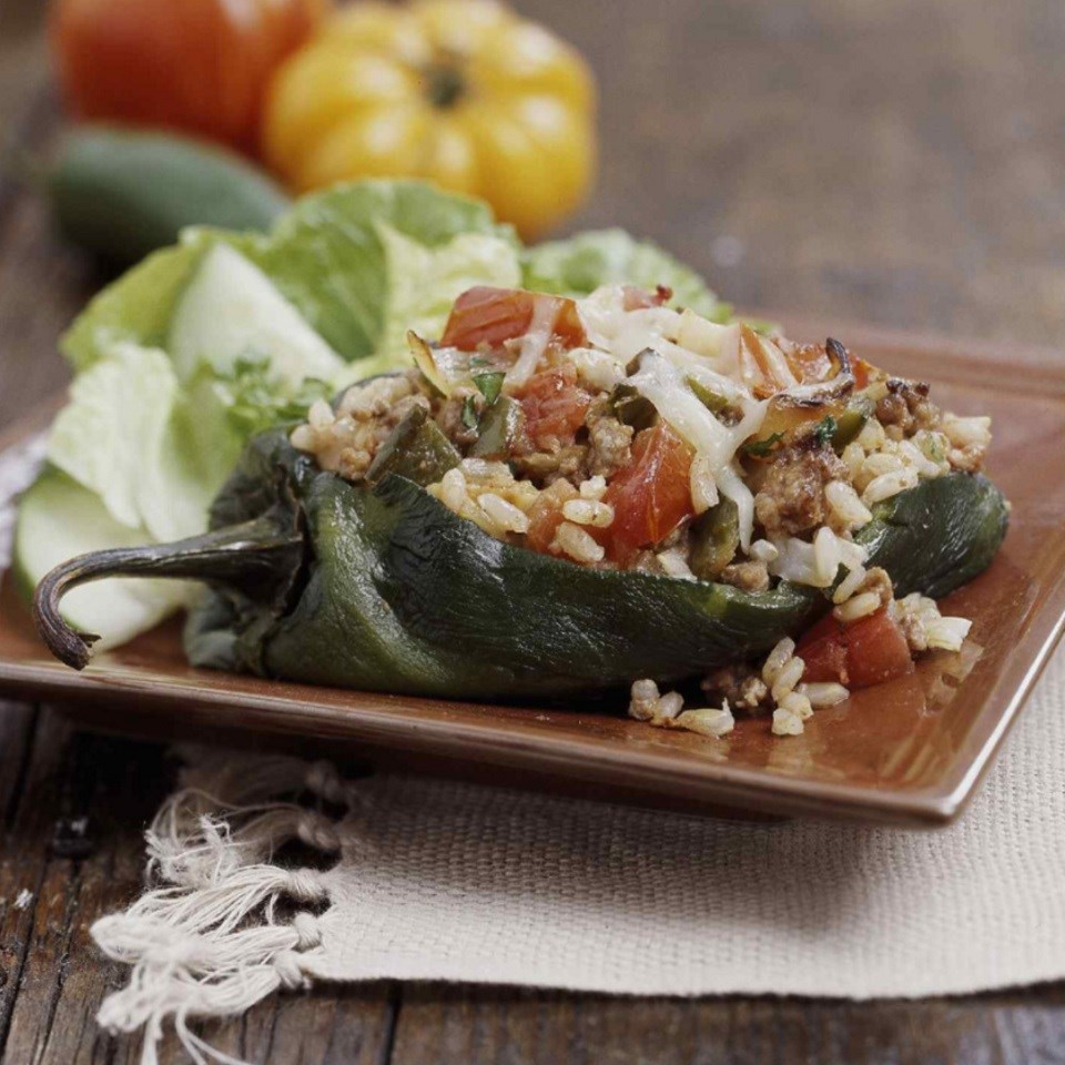 Chipotle Turkey-Stuffed Peppers