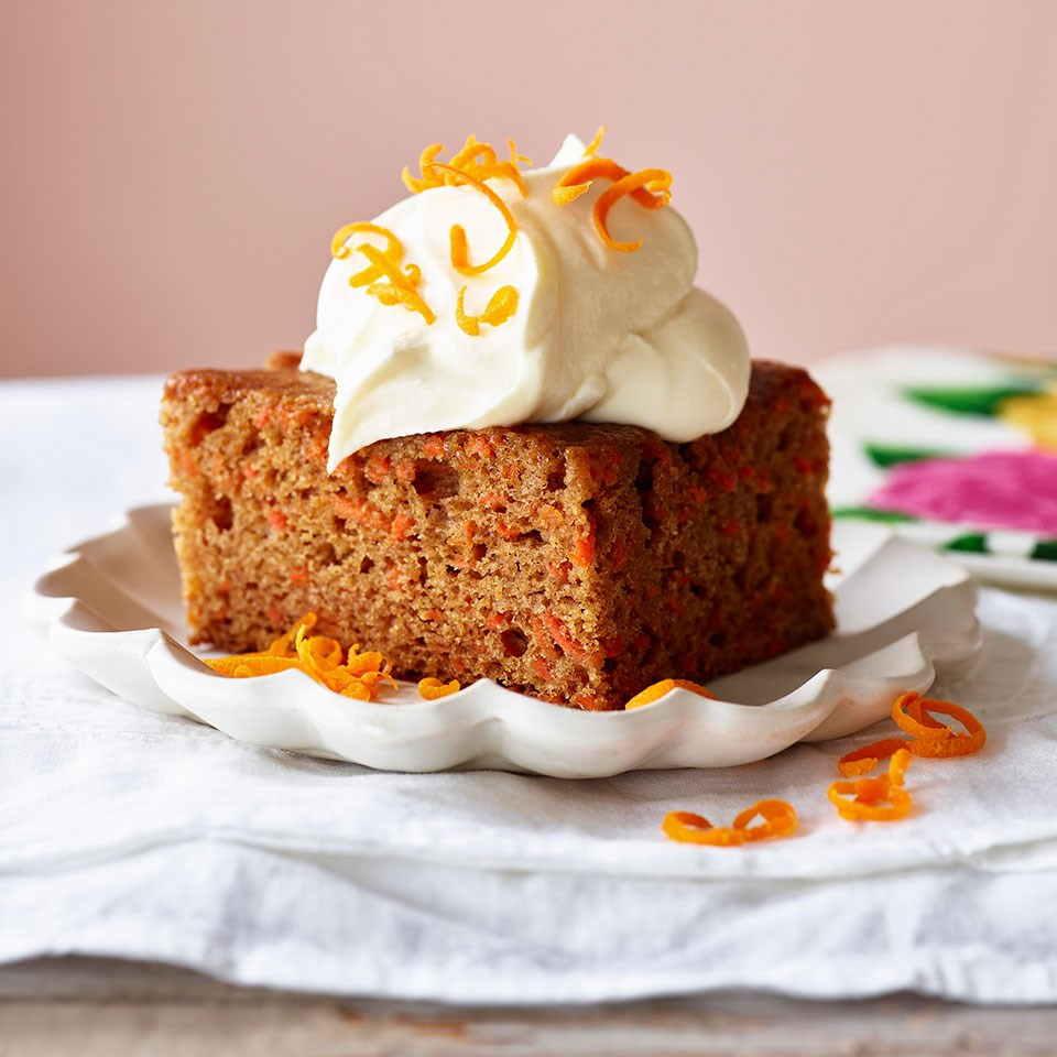 Carrot Cake With Orange-Saffron Cream Recipe