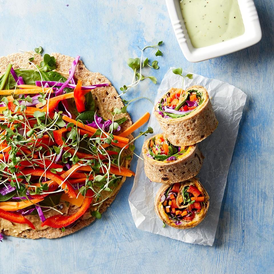 Rainbow Veggie Wraps
