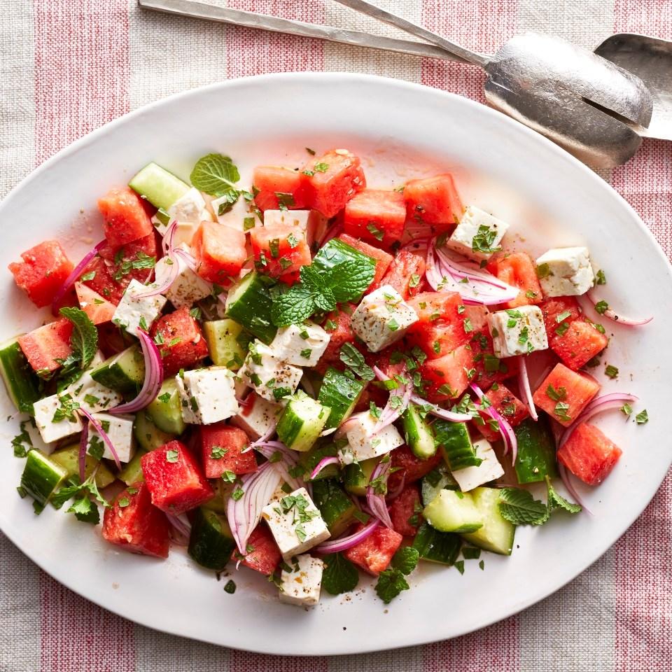 Watermelon, Cucumber & Feta Salad Recipe