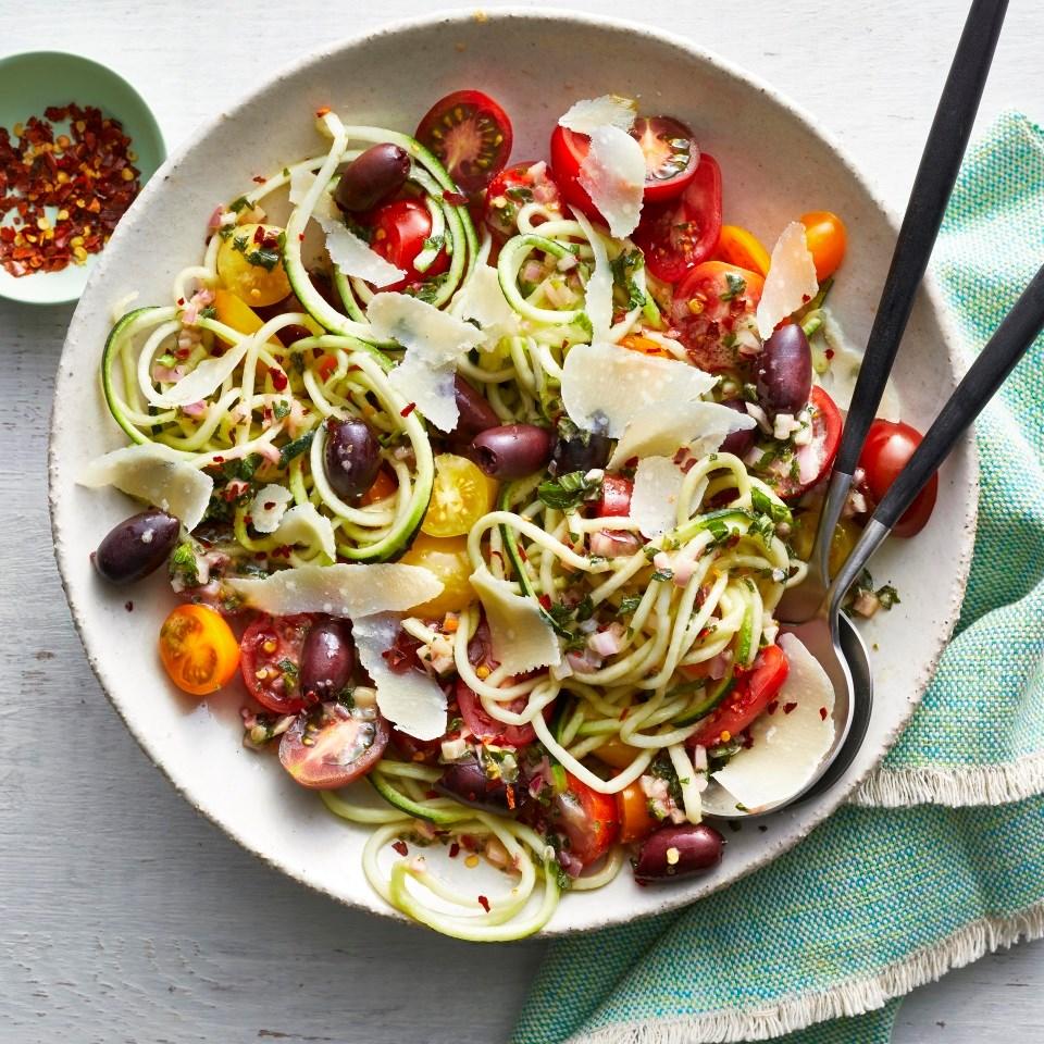 "Zucchini Noodle ""Pasta"" Salad"