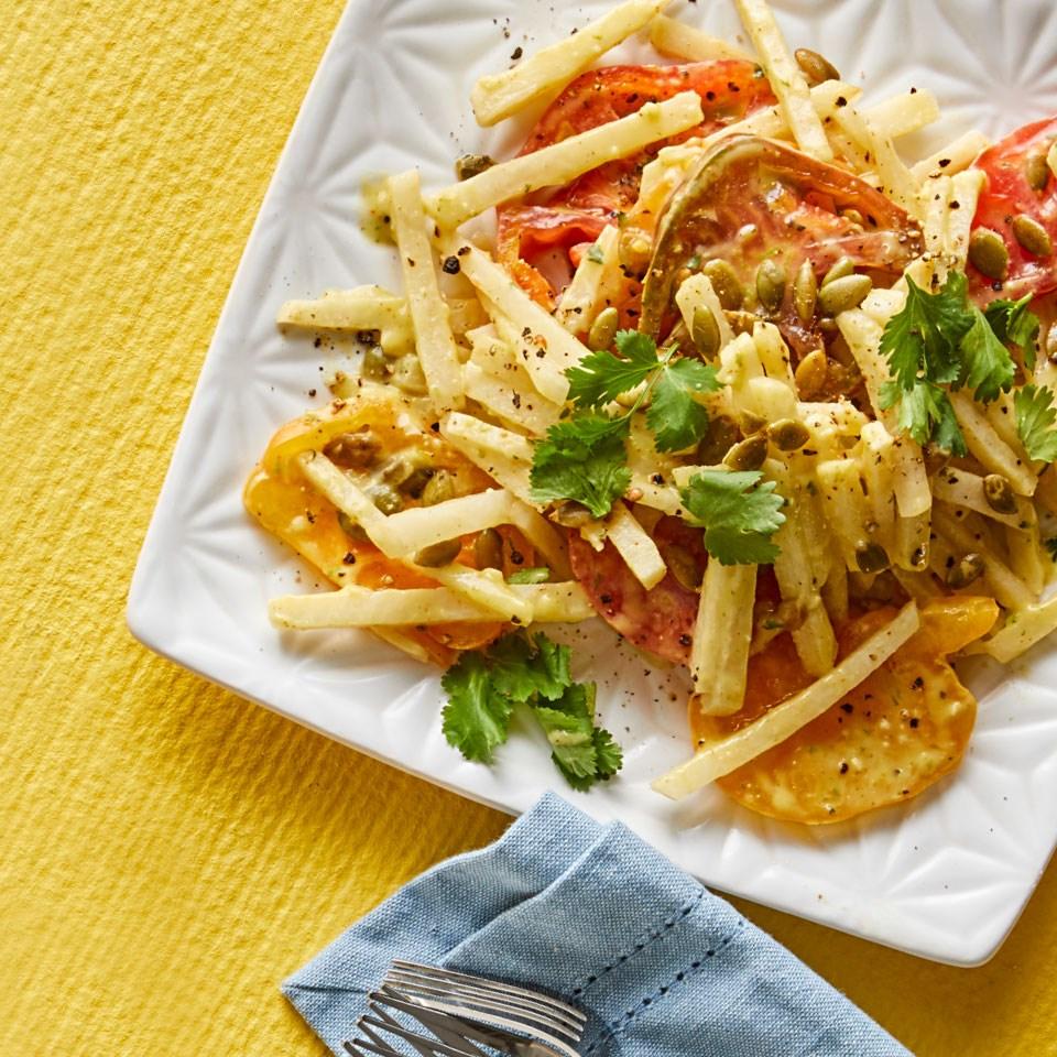 Tomato-Jicama Salad with Avocado-Chipotle Dressing