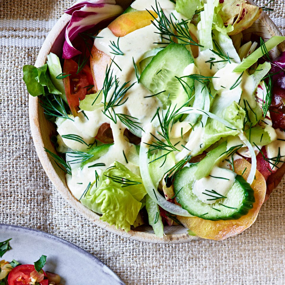 "Chicory Salad with Banded Rudderfish ""Tonnato"""