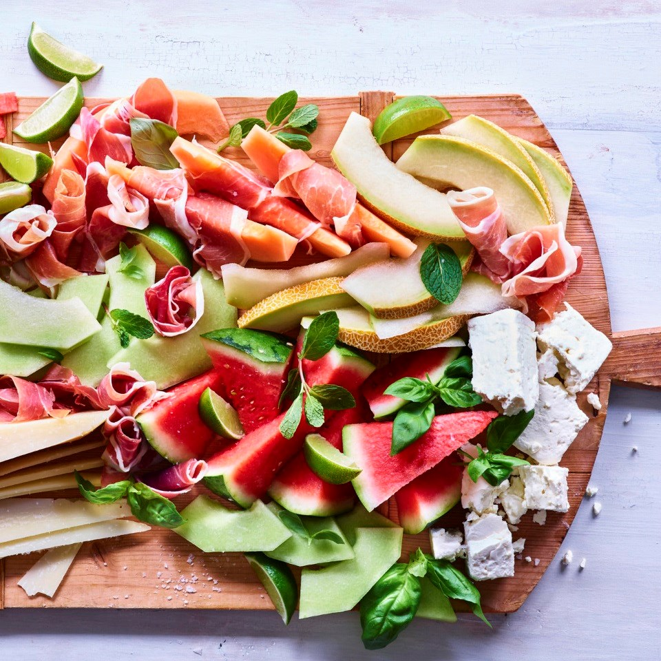 Summer Melon & Cheese Board
