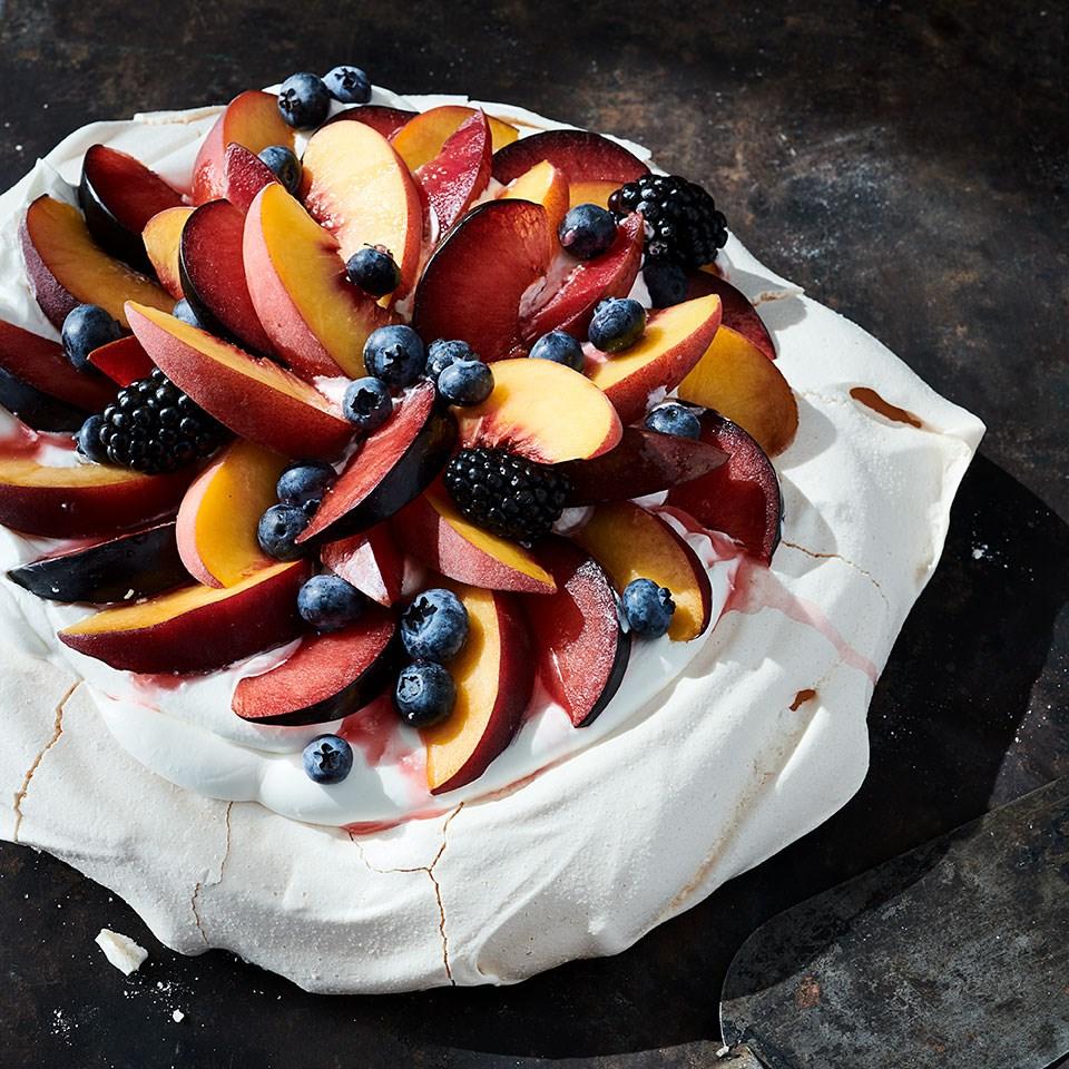 Stone-Fruit Pavlova
