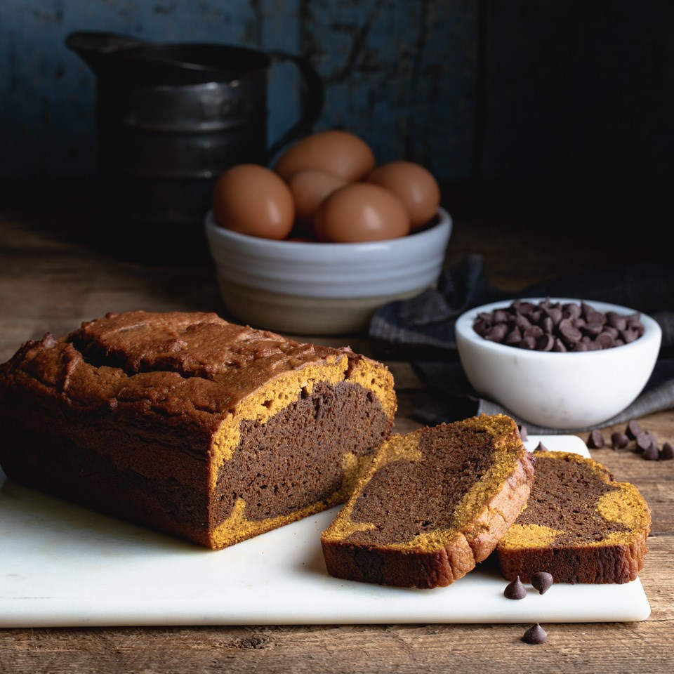 Chocolate Pumpkin Swirl Bread