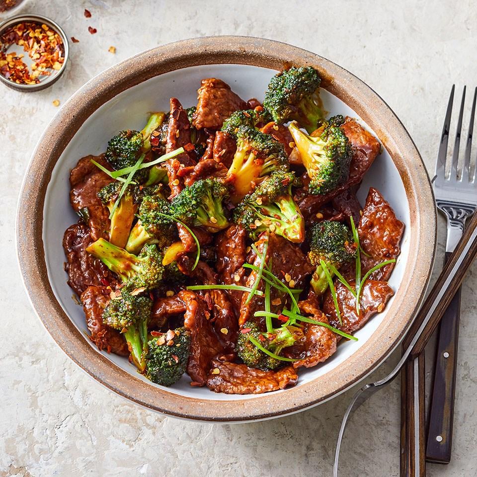 Scallion-Ginger Beef & Broccoli