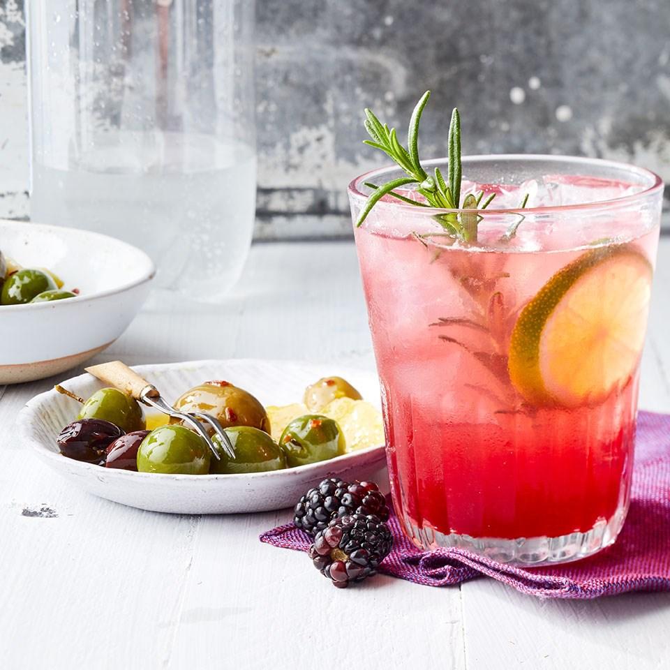Blackberry-Rosemary Vodka & Soda