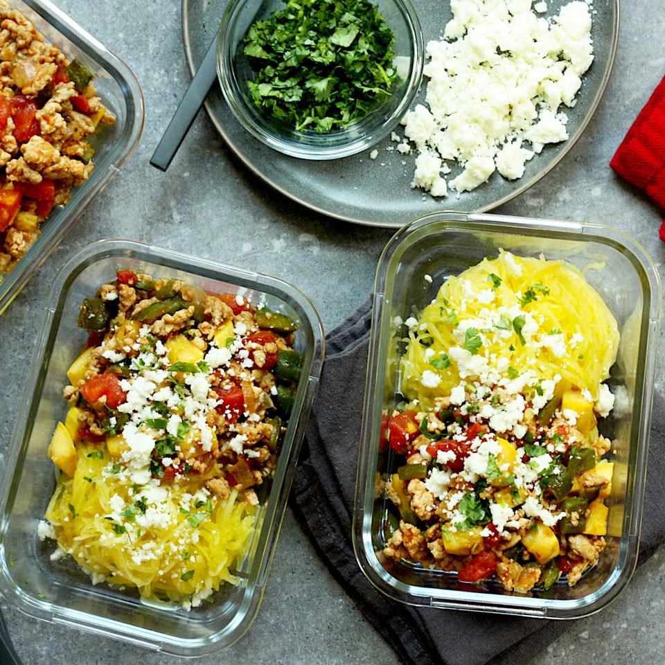 Mexican Spaghetti Squash Meal-Prep Bowls