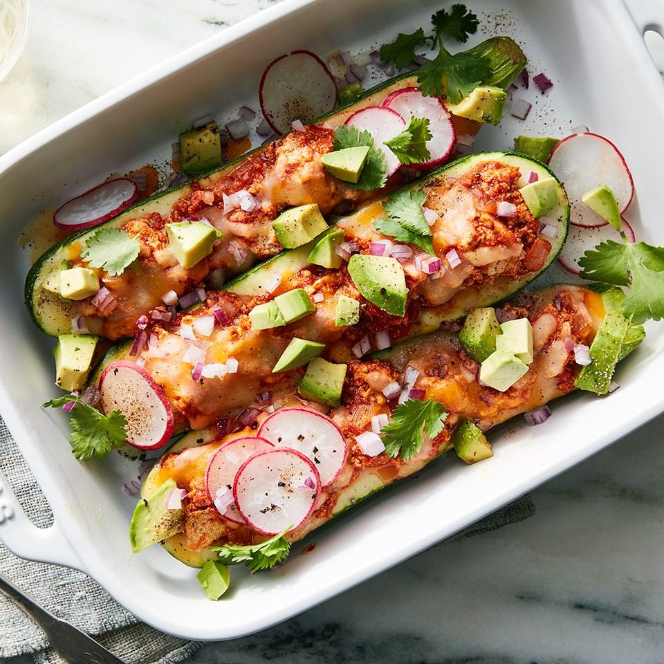 Vegetarian Taco-Stuffed Zucchini