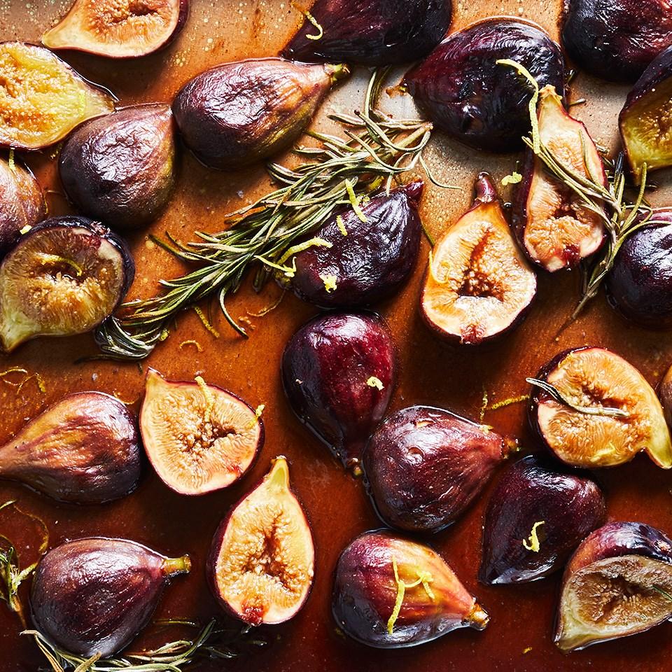 Honey, Balsamic & Rosemary Roasted Figs