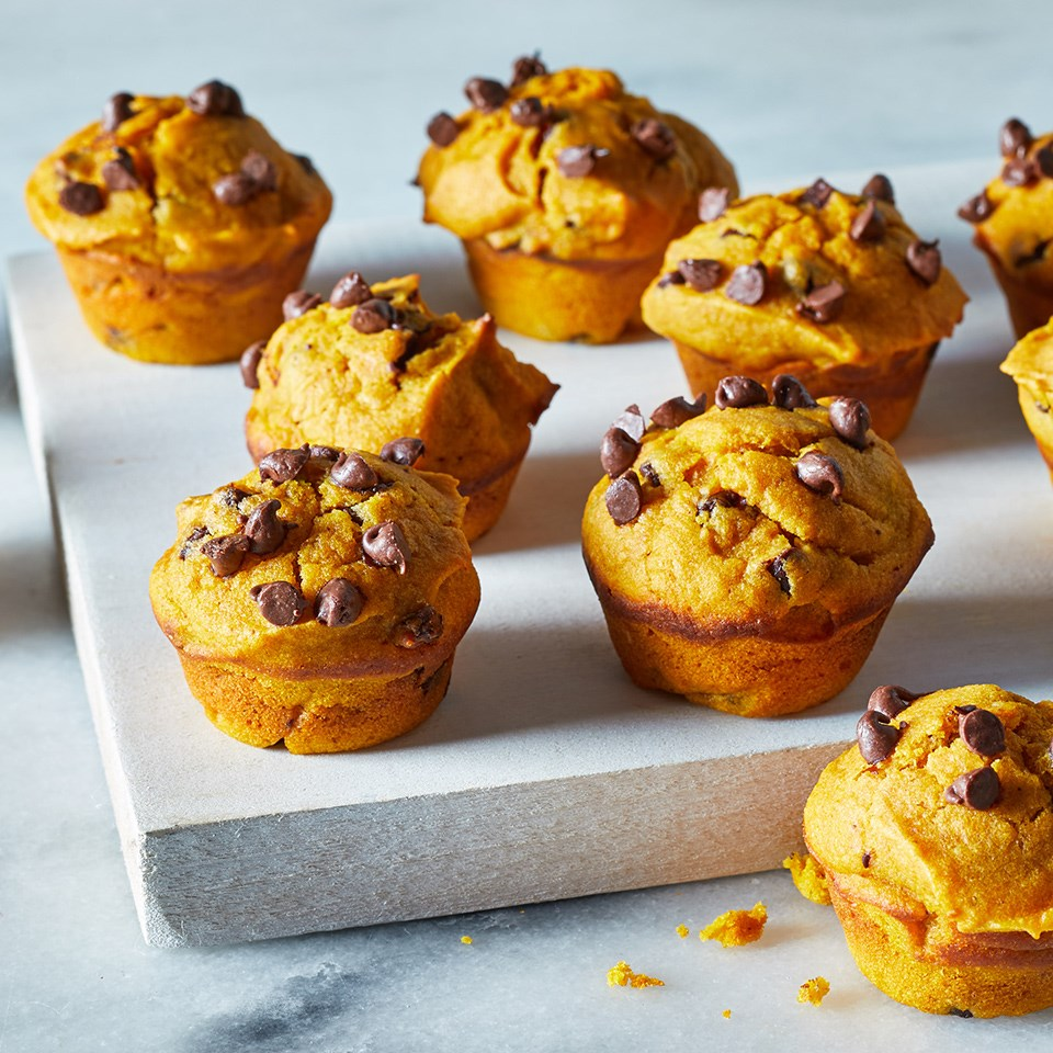 Mini Pumpkin Chocolate Chip Muffins Recipe