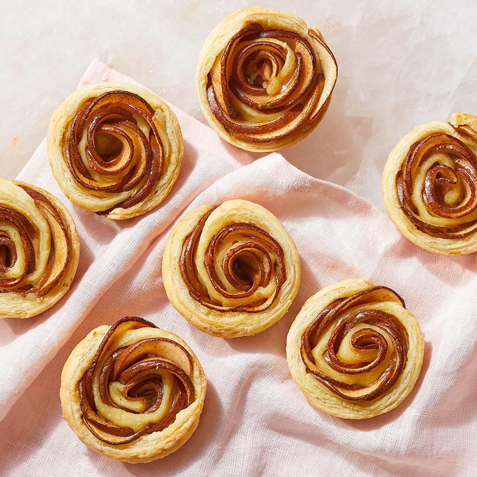 Almond & Pear Rose Tarts