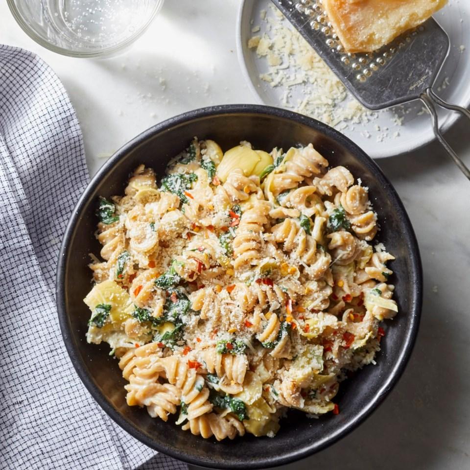Spinach & Artichoke Dip Pasta Recipe