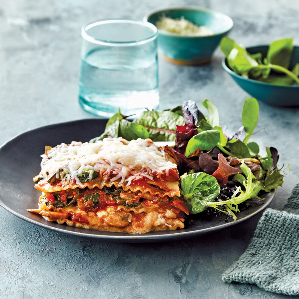 Slow-Cooker Spinach & Mushroom Lasagna Recipe