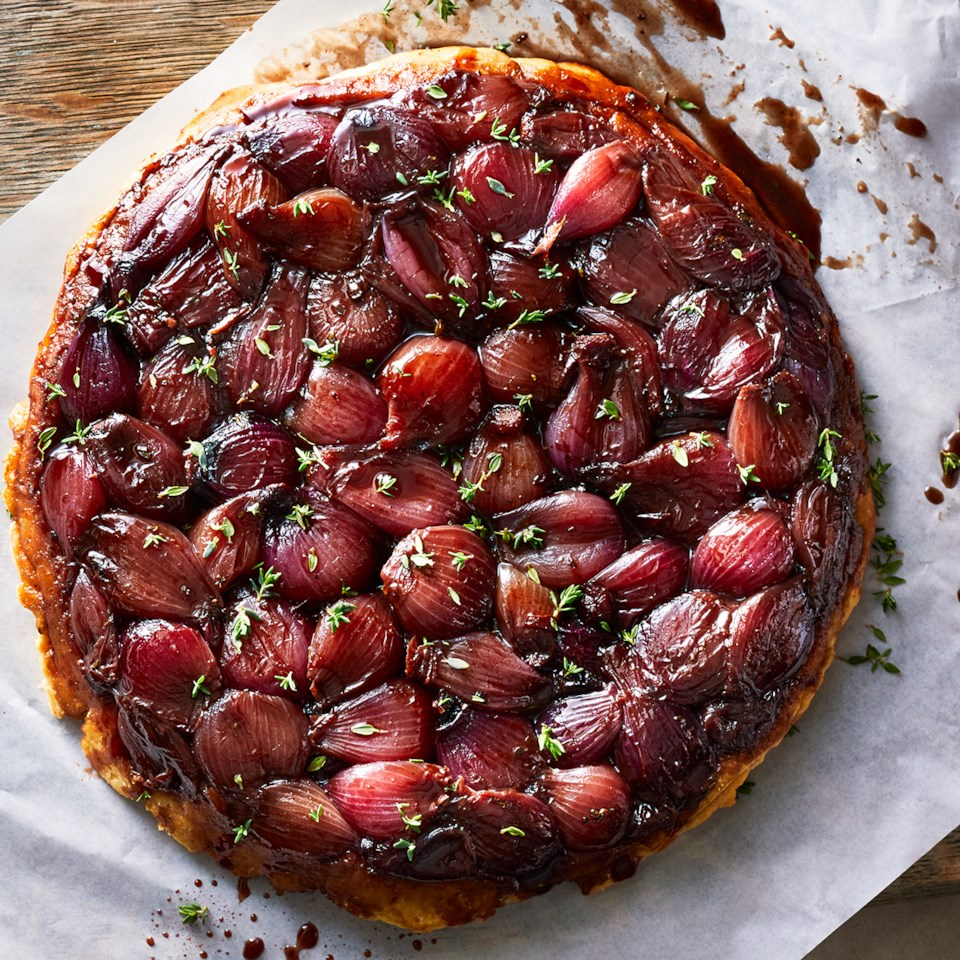 Red Wine & Balsamic Pearl Onion Tarte Tatin