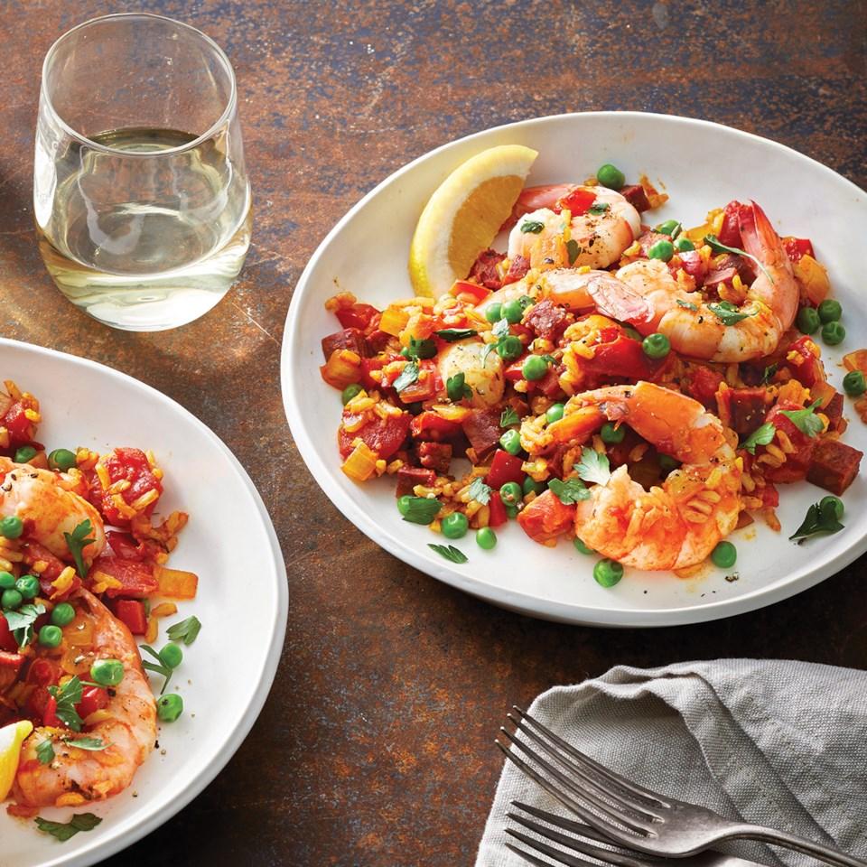 Slow-Cooker Shrimp & Chorizo Paella