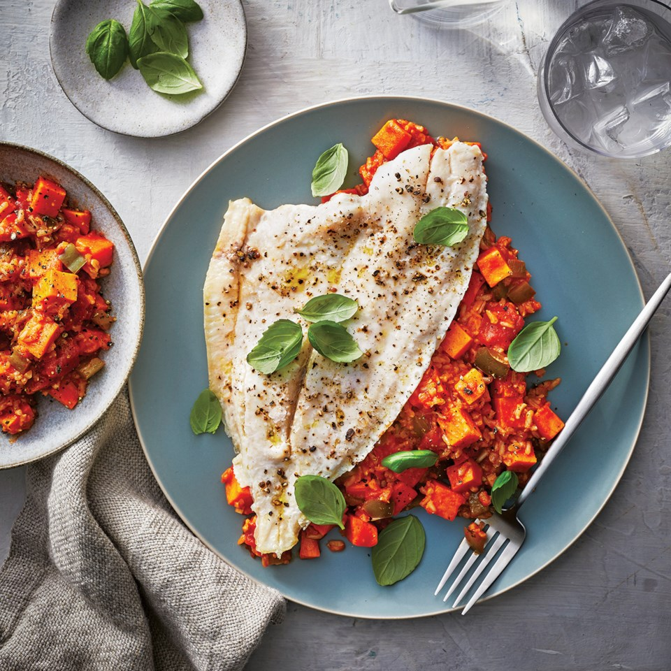 Slow-Cooker Flounder with Thai Coconut-Curry Sauce Recipe