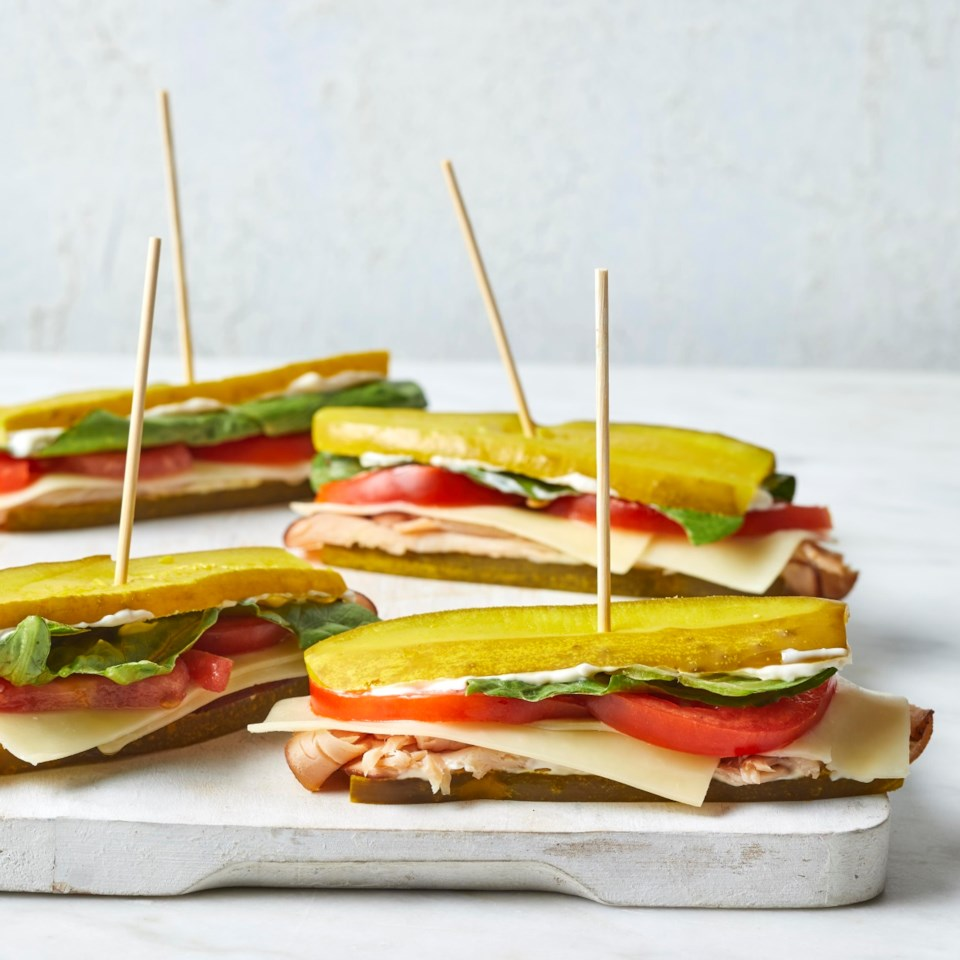 Pickle Sub Sandwiches with Turkey & Cheddar Recipe