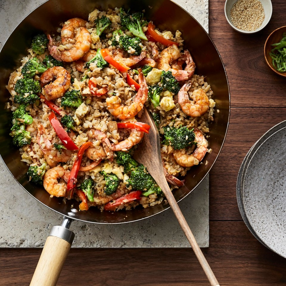 Shrimp Cauliflower Fried Rice