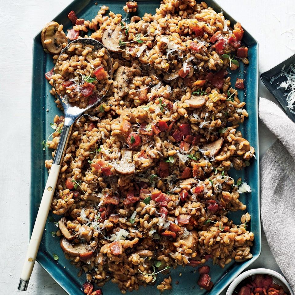 Slow-Cooker Bacon, Leek & Thyme Farro