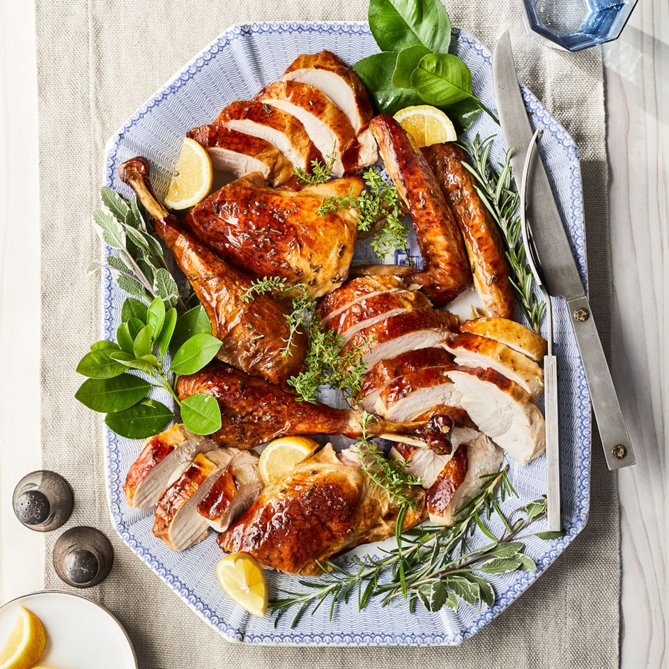 Slow-Roasted Rosemary Turkey with Peppercorn Gravy