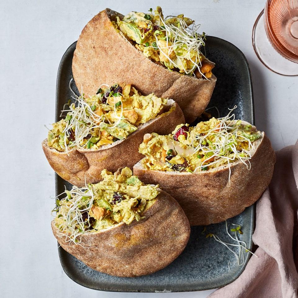 Curry-Cashew Turkey Salad Sandwiches