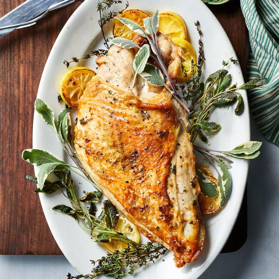 Herb-Roasted Turkey Breast with Garlic