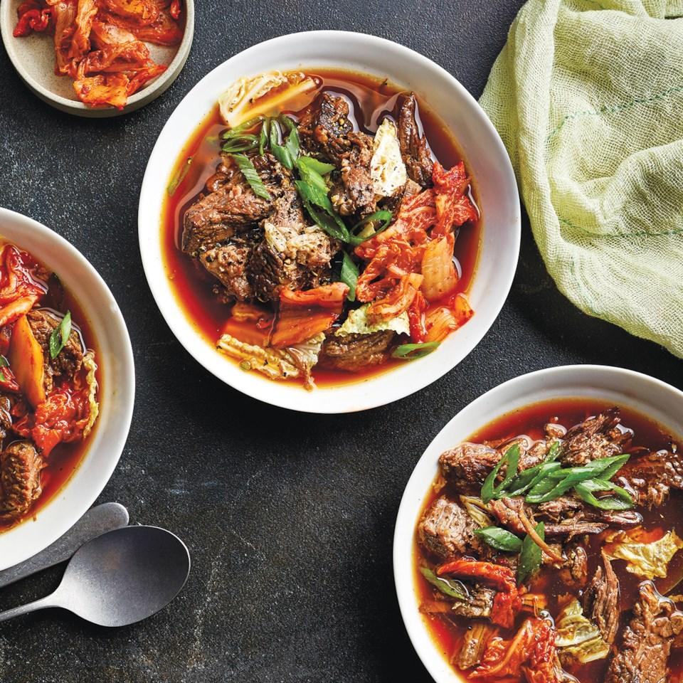 Slow-Cooker Korean Beef & Cabbage Stew
