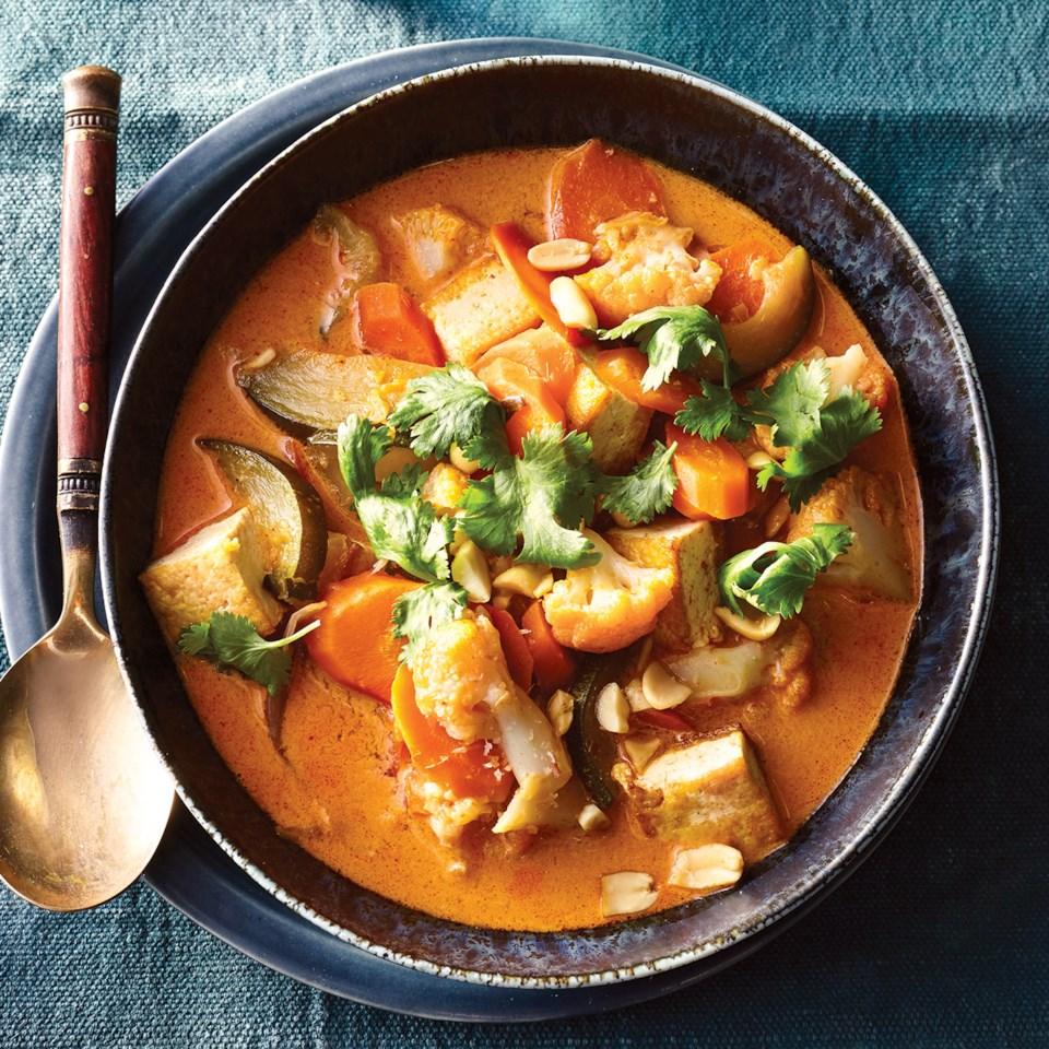 Slow-Cooker Vegetable & Tofu Thai Stew