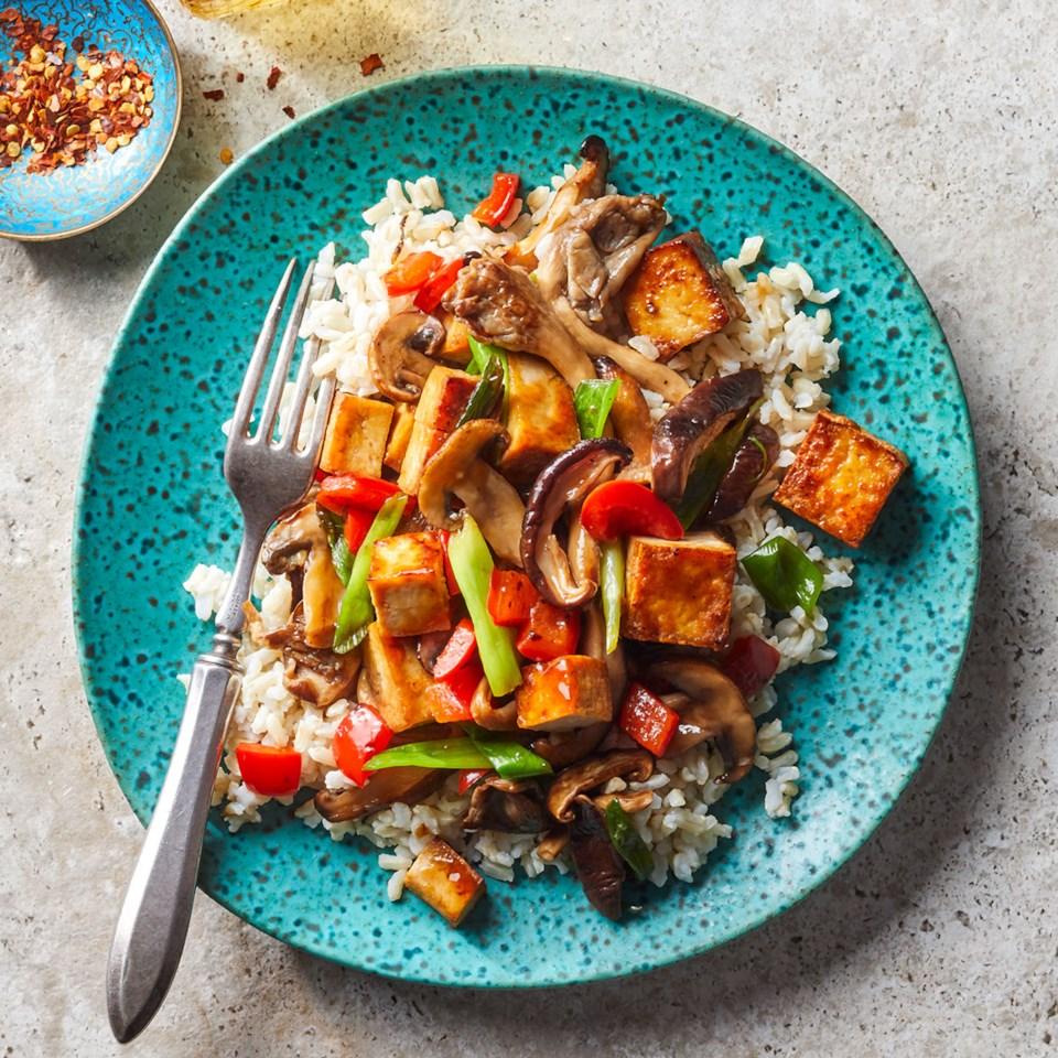 Mushroom & Tofu Stir-Fry Recipe