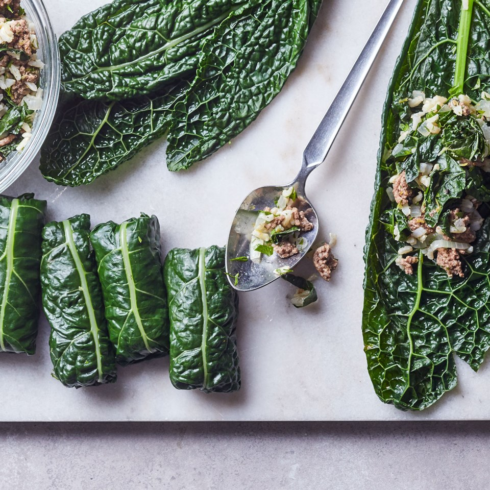 Quick Kale Dolmas Recipe