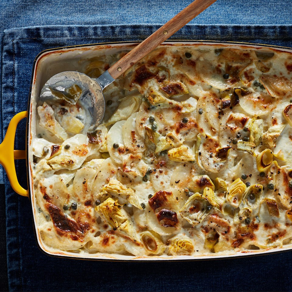 Artichoke-Potato Gratin Recipe